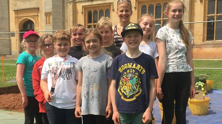 Worle Community School pupils enjoyed a day of excavation at Ashton Court.Picture: Lily Newton-Brown