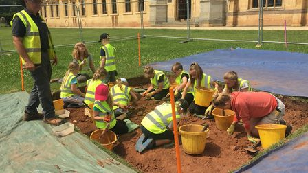 Worle Community School pupils took part in an archaeological dig this month.Picrture: Lily Newton-Br