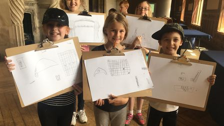 Worle and Bristol pupils came up with designs for Ashton Courts future use.Picture: Lily Newton-Brow