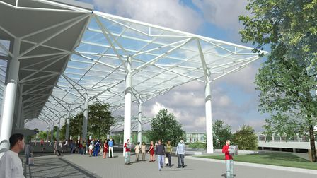 An artist's impression of what Bristol Airport may look like in future.