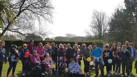 Mike Jones completed a McMillian walk after his mum was diagnosed with breast cancer.Picture: Stroll