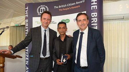 Sayd Ahmed received a British Citizens Awards. Picture: British Citizens Award