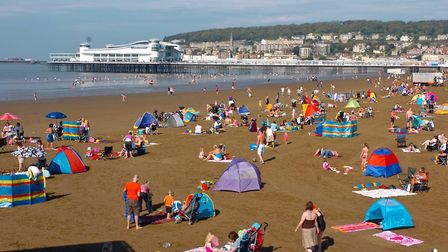 Weston beach is likely to be packed this week. Picture: David Kenneford