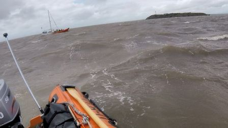 Weston RNLI teamed up with the Penarth RNLI for the rescue. Pictures: Weston RNLI