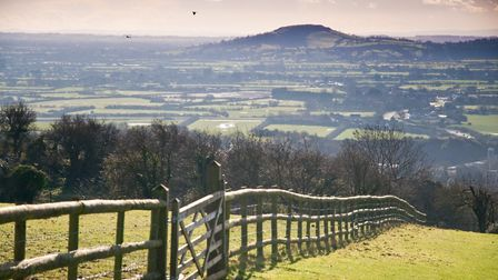 View from Roman Road in Bleadon show why the village is much sought after by developers. Picture: Ma