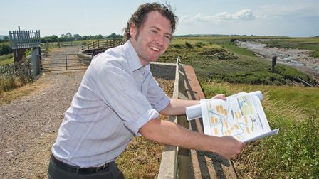 David Fish at the proposed location of the Clevedon-Weston Cycleway route. Picture: MARK ATHERTON