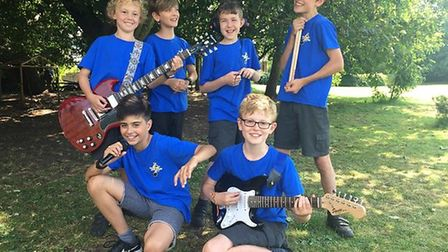 The Electronotes band members Ben Roscoe, Ethan Leggett, Harry Burrows, Barnaby Reid, Jude Toogood a