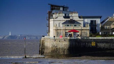 Youngsters have been spotted jumping from Knightstone Island.
