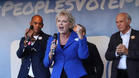 Anna Soubry is a People's Vote campaign supporter. Photograph: Yui Mok/PA.