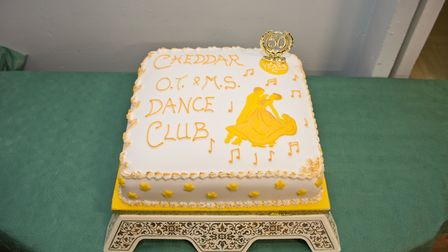 The cake at the Cheddar Old Tyme and Modern Sequence Dance Club 50th anniversary Ball.