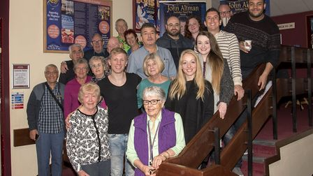 The Aladdin cast and Friends Of The Playhouse group. Picture: Neil Gibson