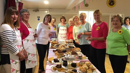 The Bleadon WI hosted a charity tea party.
