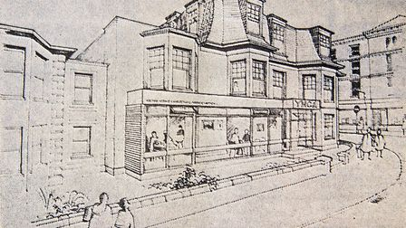 Weston YMCA plans to alter the 160 year old frontage to its premises, and this is an illustration of