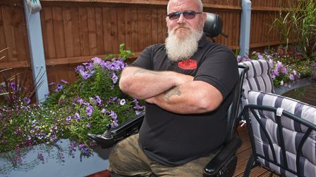 Double-amputee Mark Hancock had a motorbike and tools stolen from his Weston home. Picture: MARK