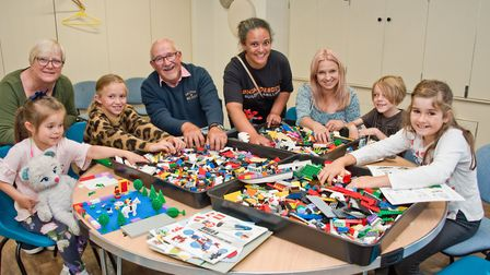 Leanne Carter (centre) of Gincandescence leading a Lego workshop at Weston Museum. Picture: MARK