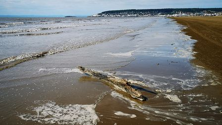 The sea ebbs on the shoreline in Weston.Picture: Jacqueline Caven