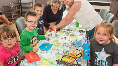 Children's craft class at Congresbury library. Picture: MARK ATHERTON