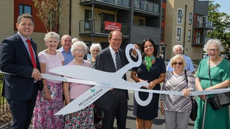 Fred Dineage officially opening Bucklands in Nailsea.