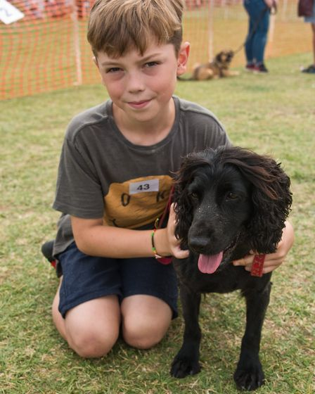 William with his dog Dulci at Weston RSPCA dog show. Picture: MARK ATHERTON