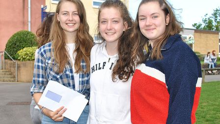 Gordano School students collected their A-level results today. Pictures: Gordano School