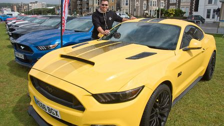 Ben Johnson with his 550 GT Mustang. Picture: MARK ATHERTON