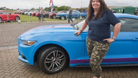 Show organiser Rana Graham with her Mustang 2.3 ecoboost. Picture: MARK ATHERTON