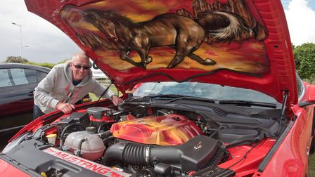 Alan Jones with his Mustang 2.3 ecoboost. Picture: MARK ATHERTON