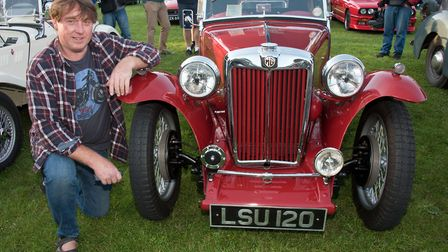 Derek George with his 1946 MG TC at Redhill classic car meet. Picture: MARK ATHERTON