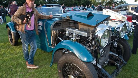 Mark Haywood and his Lagonda LG45 from 1937 at Redhill classic car meet. Picture: MARK ATHERTON