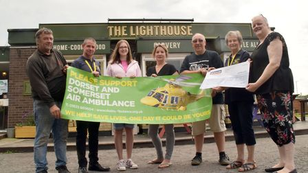 Burnhams Lighthouse Inn donated more than £1,000 to an air ambulance charity.Picture: Mike Lang