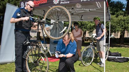 Free bike marking and security event. Picture: MARK ATHERTON