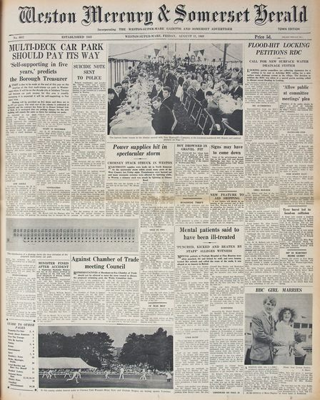 Front Page 15th August 1969 Edition. Picture: WESTON MERCURY