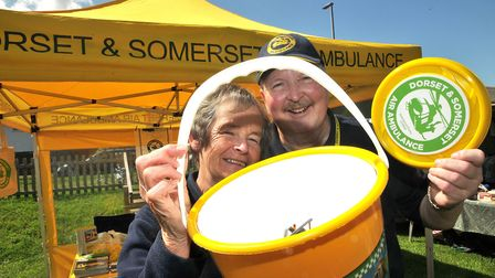 Fundraisers Dave Power and Anita Townsend at Burnhams family fun day.Picture: Mark Atherton