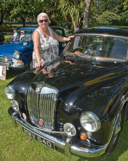 A 1955 MG Magnet ZA owned by Lynn Hole at Weston Classic car show in Grove Park. Picture: MARK AT