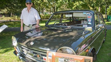 Peter Ford with his Austin !800 Mk II at Weston Classic car show in Grove Park. Picture: MARK ATH
