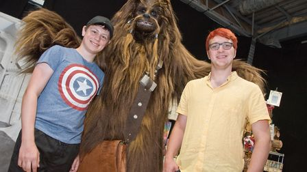 Visitors enjoying meeting characters and being characters from their favourite Sci-Fi and Fantasy.