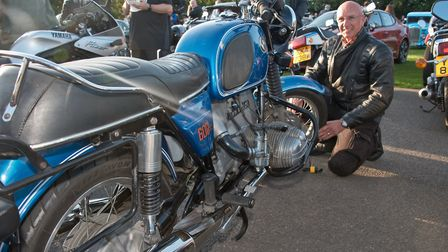 Chris Hart with his 1975 600cc BMW at Redhill classic car meet. Picture: MARK ATHERTON