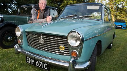Roger Lippiatt with his Austin A40 from 1960 at Redhill classic car meet. Picture: MARK ATHERTON