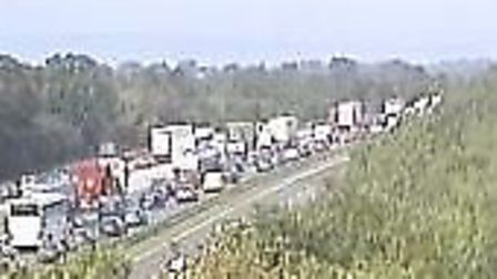 Traffic is building on the northbound carriageway. Picture: Highways England