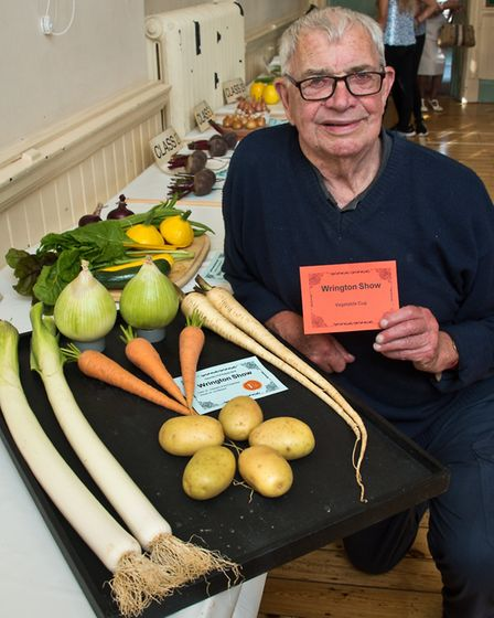 Ivor Marshall winner of the Vegetable Cup at Wrington annual show. Picture: MARK ATHERTON