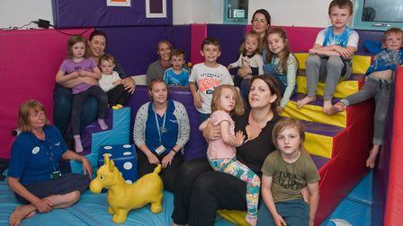 Ashcombe Children's Centre, Ashcombe Road. Springboard Opportunity Group play session. Picture: