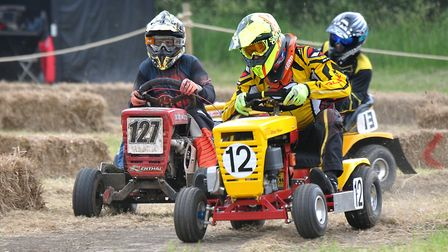 The Redbull Cut It lawn mower races near Cross, The event will see 50 lawnmower racers race to see