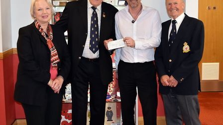 Yatton Royal British Legion members presenting a cheque to Somerset Legion House. Picture: Yatton RB