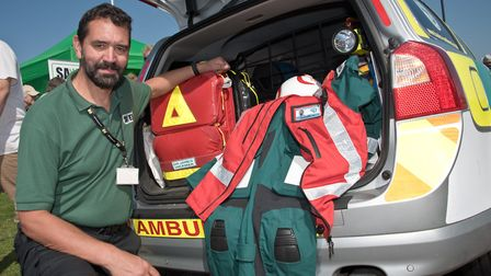 Dr James Hickman from Somerset Accident Voluntary Emergency Service. Picture: MARK ATHERTON