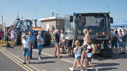 Burnham on Sea Emergency services day along the seafront. Picture: MARK ATHERTON