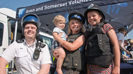 Dressing up with Avon and Somerset Police Cadets. Picture: MARK ATHERTON