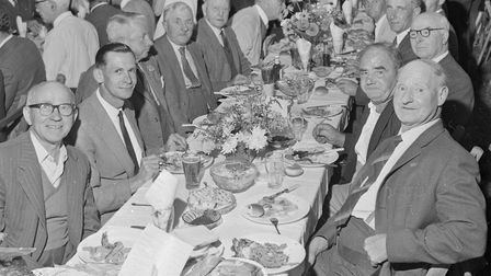 Company at Wedmore Harvest Home. Picture: WESTON MERCURY