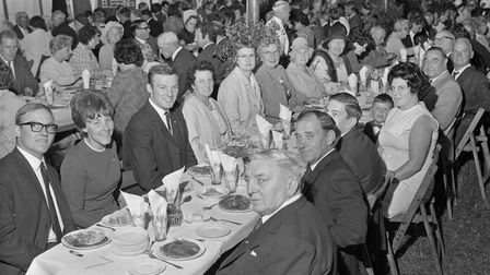 The company at East Brent Harvest Home. Picture: WESTON MERCURY