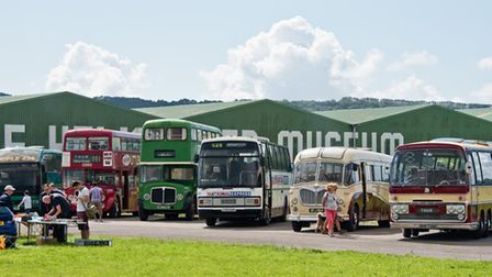 Bus and steam rally at The Helicopter Museum. Picture: MARK ATHERTON