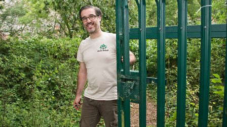 Play Wild CICs cofounder Billy Brogan at the entrance of Wood Lane Quarry in Weston. Picture: MAR